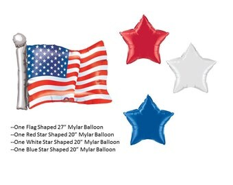 United States Flag Balloon Set