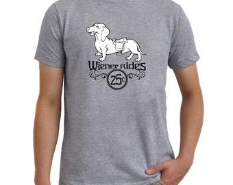 Wiener rides Dachshund T-Shirt