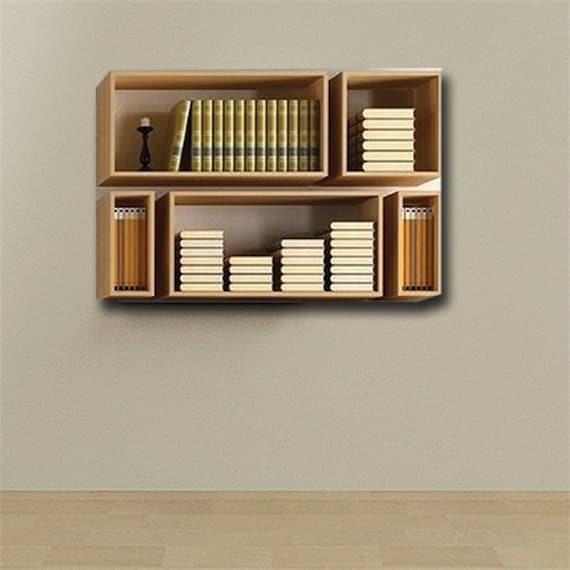 Wall Bookshelfbookshelf Decorwall By Woodmadecreation On Etsy