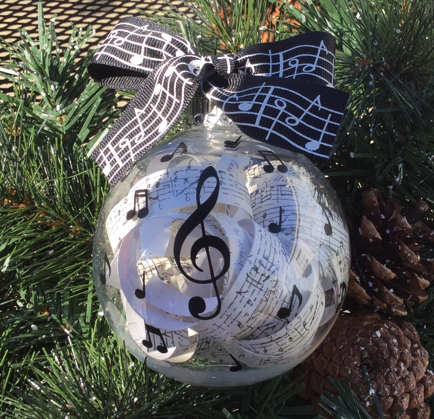 Personalized Music Themed Ornament