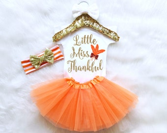 Baby Girl Thanksgiving Outfit. Little Miss Thankful Outfit. Thanksgiving Bodysuit. Thanksgiving Baby Outfit. Thanksgiving Set.