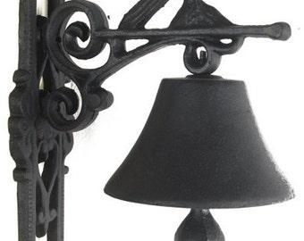 Cast Iron Garden Bell - Bird