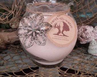 Flamingo Stance- 24 oz Soy Candle- Hand Poured Soy Candle