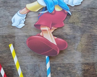 Pinocchio cake topper, centerpiece cut out, pinocchio birthday party