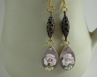Spoon Earrings, Vintage Style Spoon Earrings