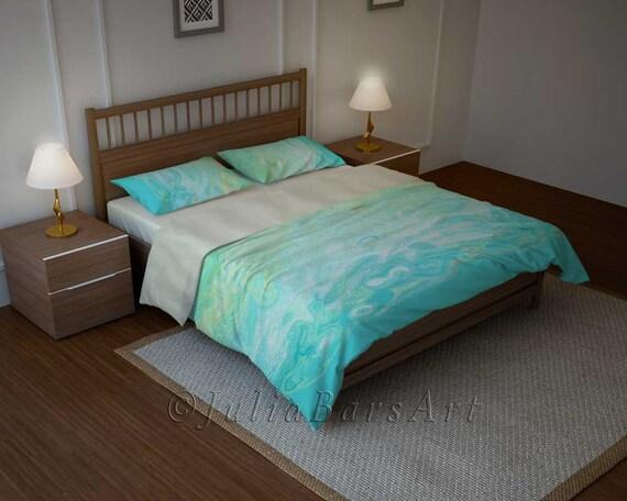 Aqua Bedroom Decor Blue Duvet Cover Mint Blue By