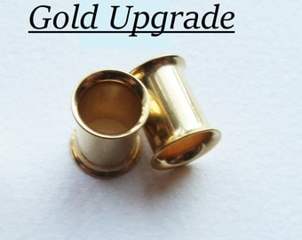 NOT AVAILABLE To Purchase Alone. Choose Add-on Gold / Rose Gold Upgrade for Plugs-Please Also Select A Design