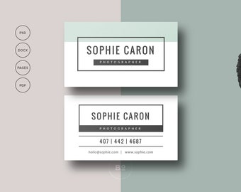 2 premade business card templates set of 2 printable