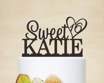 Custom Cake Topper With Any Name And Age,Sweet 16 Cake Topper,Personalized Cake Topper,Birthday Cake Topper A041