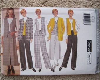 UNCUT Misses / Misses Petite Jacket, Vest, Skirt and Pants - Butterick Pattern 4584