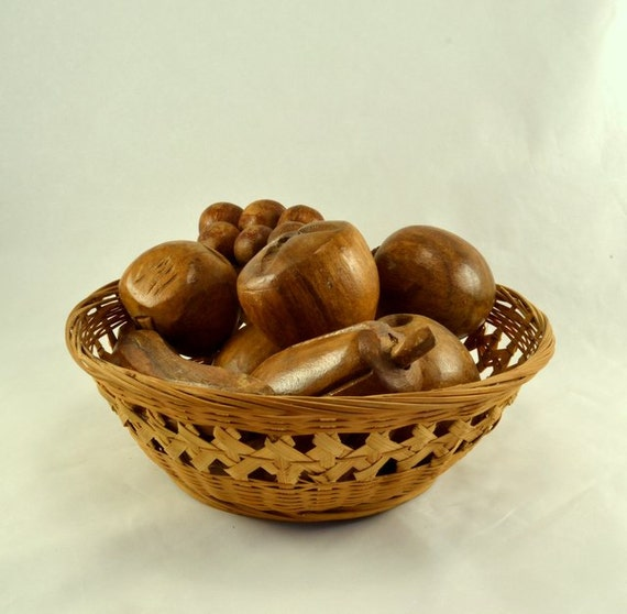 Wood fruit hardwood carved banana grapes other