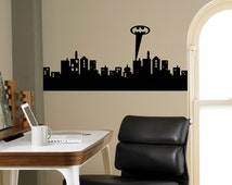 popular items for batman wall decal on etsy city wall murals 2017 grasscloth wallpaper
