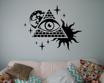 All Seeing Eye Stencil