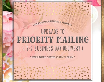Upgrade to USPS Priority Shipping from Standard Mailing **USA ONLY**