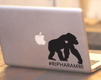 SUMMER SALE! RIP Harambe Gorilla sticker gorilla decal chimp monkey decal Car Laptop Vinyl Decal Sticker