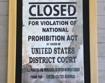Metal Prohibition sign
