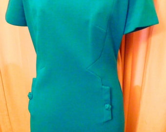 Turquoise Dress by Wilshire 1960s Vintage