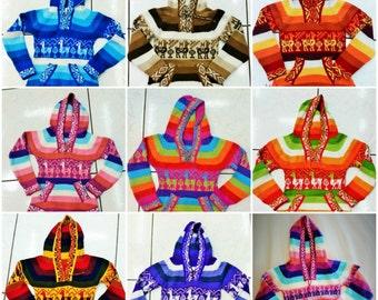 Kid Handmade Peruvian Poncho