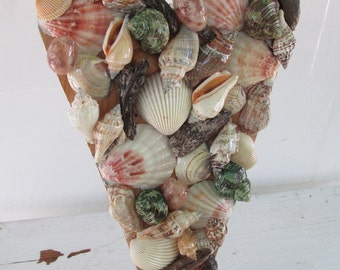 Sea Shell Heart, Sea Shell Wall Art, Sea Shell Décor, Beach Décor, Nautical Décor,  Seaside, Ocean, Seashore, Beach House