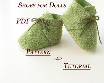Lerika Doll - PDF - Sewing Pattern - Shoes for Dolls Pattern pdf - Pattern shoe - Doll Clothing - PDF Doll Body - Doll Form
