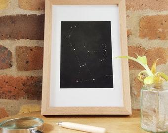 Orion Constellation (original framed art punctures on paper)