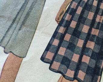 Vintage McCall Misses Skirt pattern / 1940s