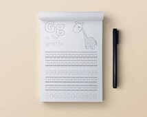 Printable letter tracing pages - Printable alphabet - Print and trace - Kids learning - Tracing sheet - Printable tracing sheets