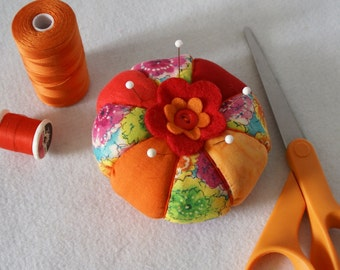 Tomato Pincushion - Sunset Orange