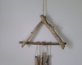 Driftwood Triangle Wind Chime Mobile
