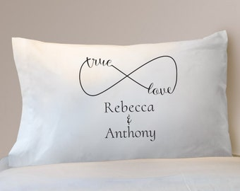 True Love Infinity Pillowcase, Personalized Infinity Pillowcase