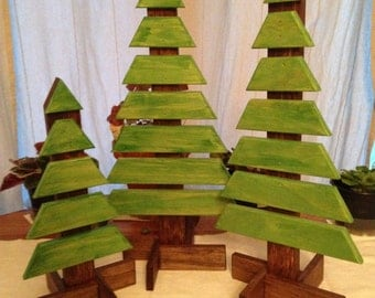 Christmas Tree Decorations Slat Pine