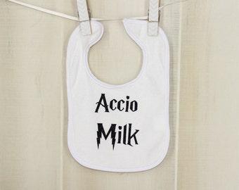 Accio Milk Harry Potter Baby Bibs Funny Bibs Funny Baby Shower Gift