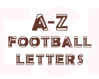 Football svg files, Football Alphabet, SVG, DXF, EPS, cutting files for use in Silhouette studio and Cricut Design Space. Sports svg files.