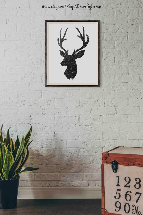 Wall Art Of Deer : Deer art nursery decor printable wall starry