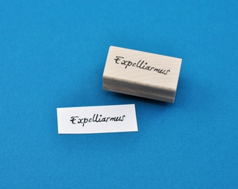 Expelliarmus Rubber Stamp, Hand Carved Harry Potter Stamp