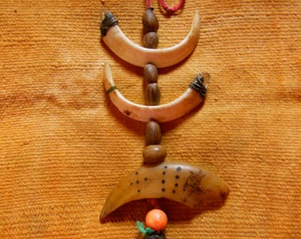 Piaroa Shaman's Medicine Necklace Used For Ceremonies Original Authentic Venezuela Collectable Rare
