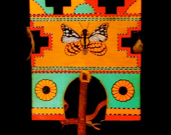 Hopi Native American Original Butterfly Tableta Worn In Butterfly Dance Ceremony 1940's
