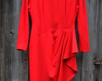Bicci Red Wool Dress