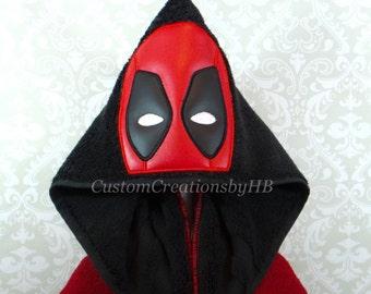 Deadpool Inspired Hooded Towel on High Quality Belk Department Store Towels