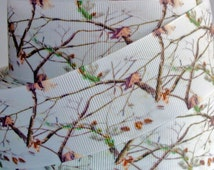 """1.5"""" White Camouflage Grosgrain Ribbon 2, 3 or 5 yards"""