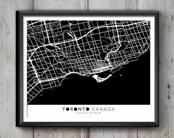 TORONTO Map with Coordinates, Toronto Wall Art, Toronto Map, Map Art, Map Print, Toronto Print, Toronto Art, Toronto, Toronto Decor, Toronto
