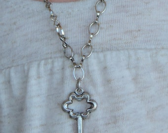 Silver Key Pendant Necklace for American Girl Dolls and other 18 inch dolls