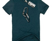 Mens CARABINER Tee // Climber TShirt, Carabiners, Men's Graphic Tee, Gifts for climbers, Mountaineer, Graphic TShirt, Rock Climber, Climbing