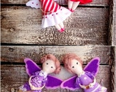 Christmas Angels Red Fabric Fairy Christmas Ornaments Doll Christmas tree decorations little angel doll miniature cloth doll