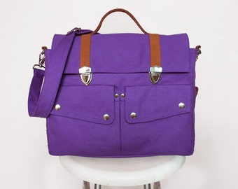 Purple Messenger Bags/Handbags/Bags&Purses/School Bags/Bags/Backpacks/Shoulder Bags/Travel bags/Diaper Bags/Crossbody Bags