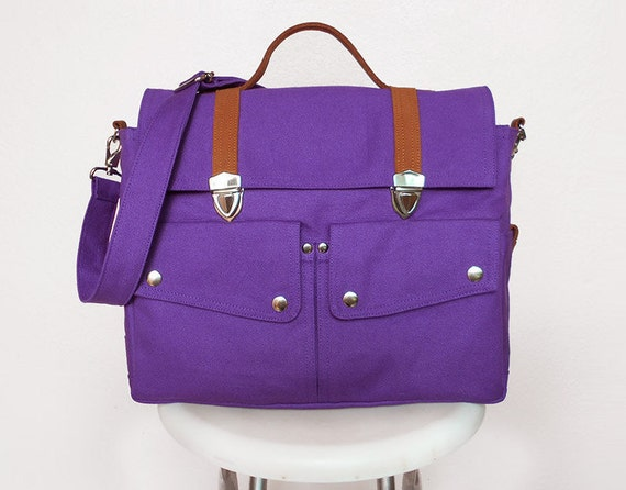 purple messenger bags handbags bags purses school. Black Bedroom Furniture Sets. Home Design Ideas