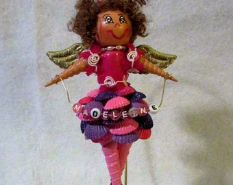 Gift for her-ballet angel-Ballet Lover Gift-unique gift-custom art-personalized gift-Unique Home Decor-girls room decor-sea shell angel