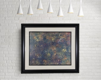 """ON SALE! 33% OFF original price! - Original Painting - """"Sunrise"""" - abstract acrylic tapestry - experimental - inventive techniques"""