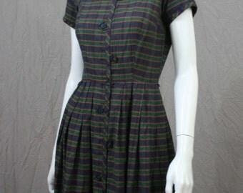 beautiful 60s plaid dress