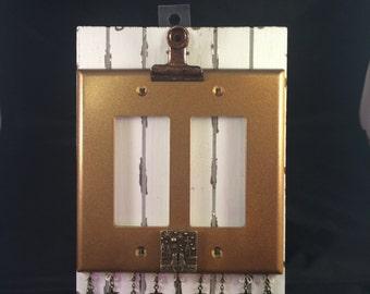 Love Kitties Peaceful Night decorative switch plate double decora rocker gold 2586
